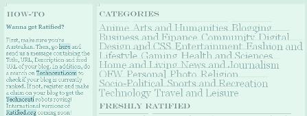 Ratified categories