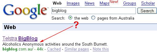 BigBlog on Google