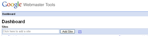 Add Site to Google Webmaster Tools