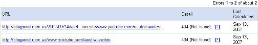 Google Webmaster Tools Diagnostic