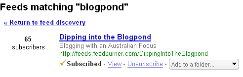 Subscriptions for Blogpond
