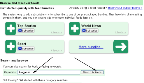 Google Reader Browse