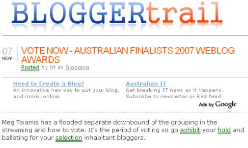 BloggerTrail