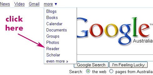 Find Google Reader
